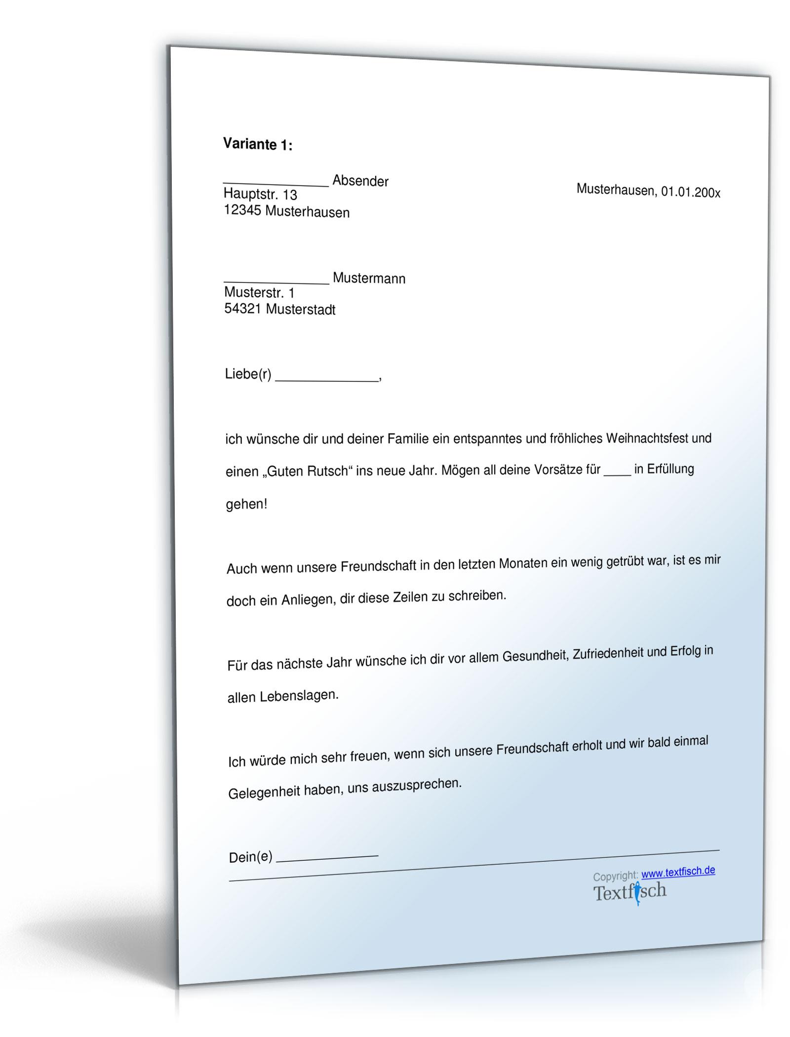 Familie Freizeit Musterbriefe Dokumente Vorlagen