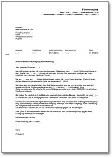 Kündigung Mietvertrag Fristlos Vermieter Mietschuld De
