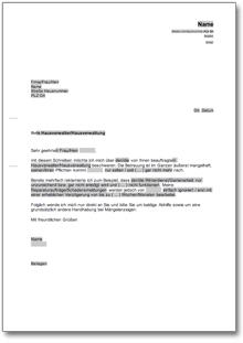 Beschwerde über Die Hausverwaltung At Musterbrief Download