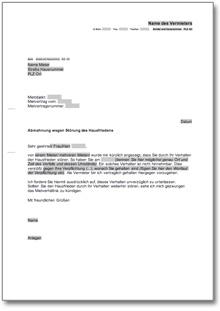 Abmahnung Wegen Störung Des Hausfriedens De Musterbrief Download