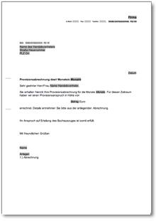 Anschreiben Provisionsabrechnung De Musterbrief Download