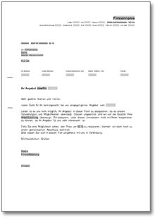 Beliebte Downloads Musterbriefe Kostenloskostenpflichtig