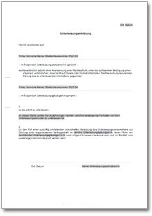 Unterlassungserklärung wegen Belästigung • DE Vorlage Download