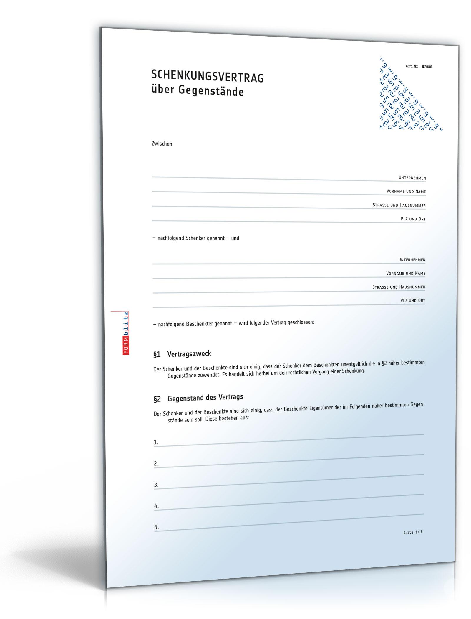 Schenkungsvertrag Haus Rechtssicheres Muster Zum Download Daniel Stern