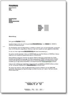 Ankündigung Einer Mieterhöhung De Musterbrief Download
