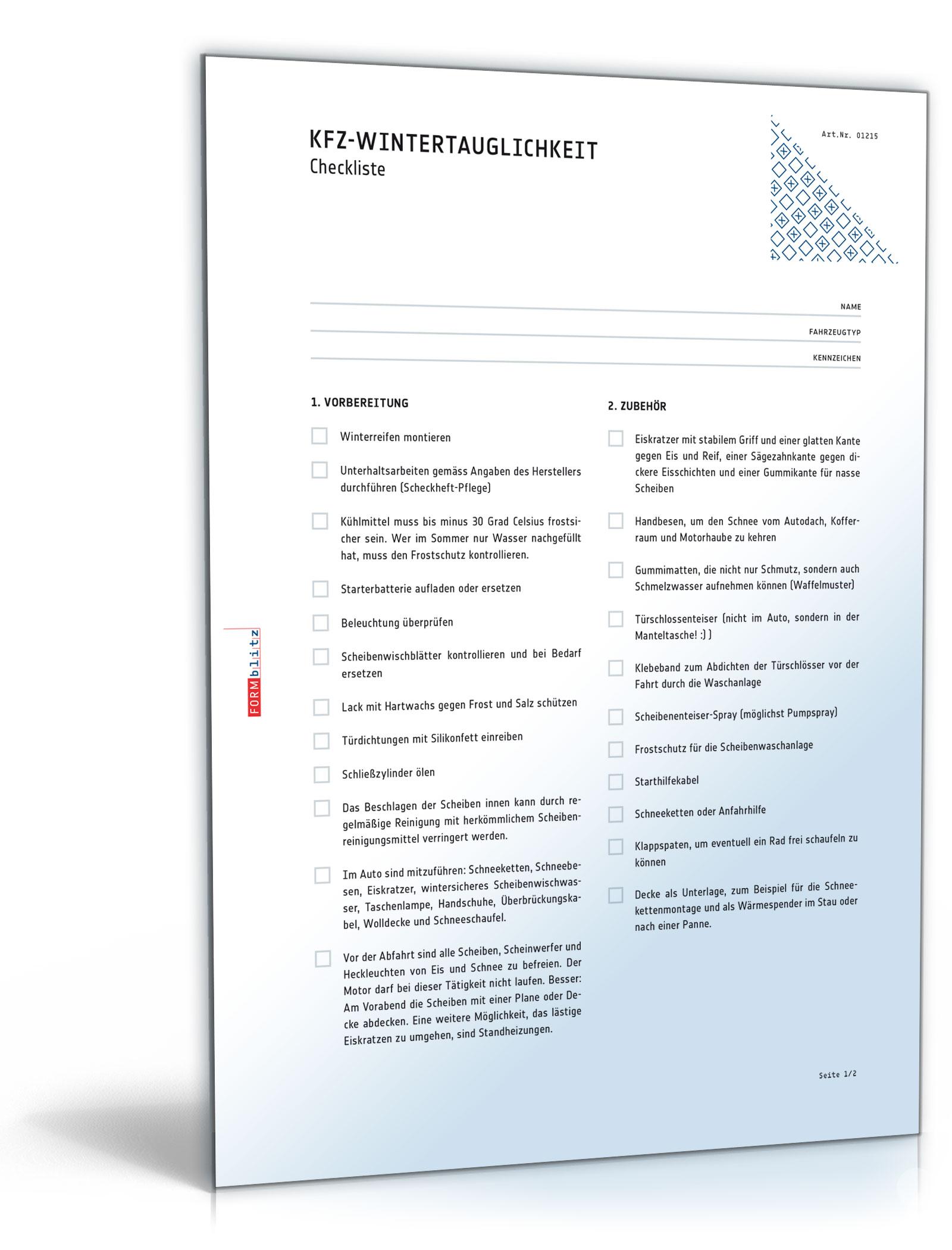 Internet & Technik / Checklisten » Dokumente & Vorlagen